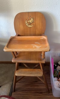 Antique Wooden 1930's High Chair