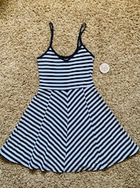 Navy/white Striped Dress Newton, 50208