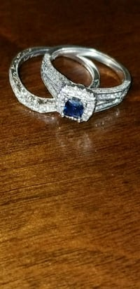 Silver sapphire and dimond bridal set Virginia Beach, 23464
