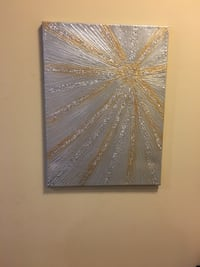 Glitter canvas painting/wall art