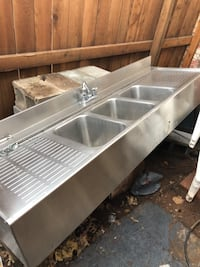 3 compartment commercial sink with faucet Yukon, 73099