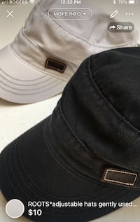 ROOTS*adjustable hats gently used WASHED good condition-10$ each  London, N5W 1E8