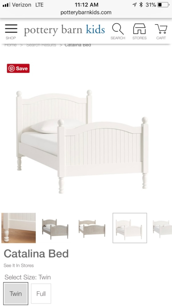 Awe Inspiring Pottery Barn Catalina Twin Bed Dailytribune Chair Design For Home Dailytribuneorg