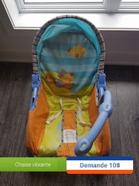 baby's blue, orange, and yellow floor seat Chambly, J3L 0C6