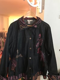 black and red floral button-up jacket Derwood, 20855