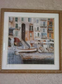 brown wooden framed painting of house Naples, 34120