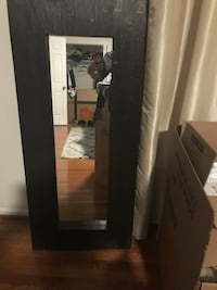rectangular black wooden framed mirror Alexandria, 22310
