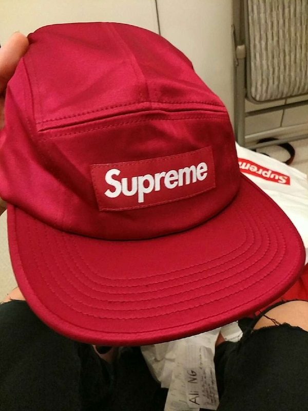 Used red Supreme fitted cap for sale in London - letgo 35f031ae0c6d