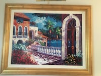 brown wooden framed painting of house Fort Washington