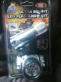 black Ultra Bright LED Flashlight Kit Spring Hill, 34609