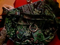 green and black floral tote bag Charleston, 25387
