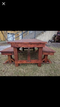 Used Custom Farm House Tables Benches For Sale In Atlanta Letgo - Picnic table atlanta