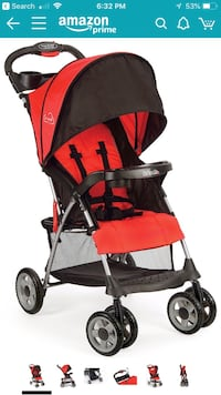 baby's red and black stroller Seattle, 98109