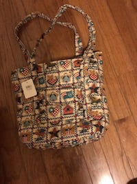 women's brown and white floral tote bag Bridgewater, 08807