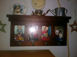 Wall hanging shelf/photo frame all in one