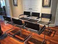 Gorgeous leather and chrome chairs, cantilever style Toronto, M2N 1K5