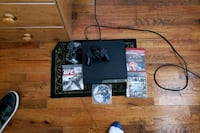 black Sony PS3 slim console with controller and game cases Compton, 90220