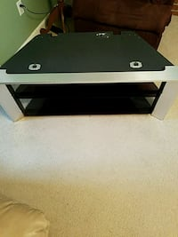 white and black wooden TV stand Soddy-Daisy