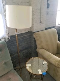 Floor lamp and matching mirror table Lothian, 20711