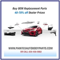 Full line of Painted Auto Body Parts  Bumpers Fenders Hoods Park Ridge