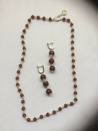 Sterling Silver 925 ,Necklace and Earings, Amber