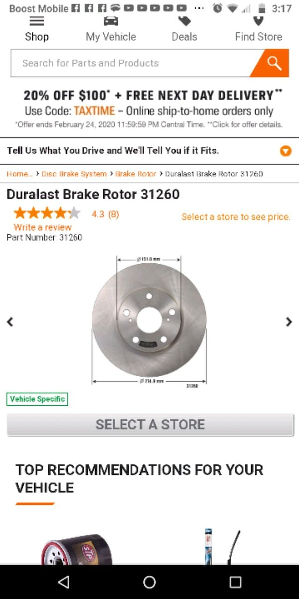 2 Universal (meaning fits in multiple cars ) brake rotors  3589dd6d-a6da-4bd0-b4ac-61364eb13027