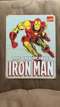 Metal iron man sign  Wilmington, 28403