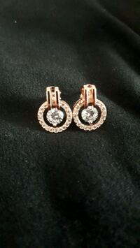 Rose gold plated cz brand new earrings  Markham, L3S 1K1