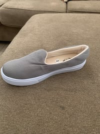 Pair of gray slip on shoes