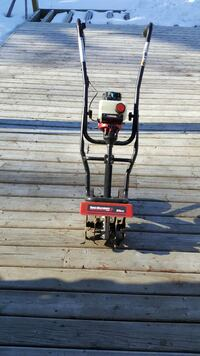 black and red lawn edger