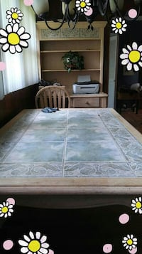 China cabinet marble table top no chairs