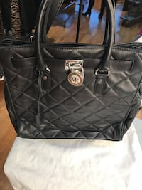 New Michael Kors Quilted black leather tote bag Brampton, L6V 3M9