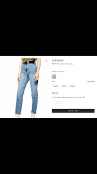 Topshop Mom Jeans brand new with tags Ajax, L1T