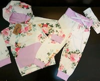 Pink Floral Outfit (Size 1-2T); Brand New