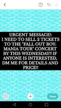 FALL OUT BOY CONCERT TICKETS Wallingford, 06492