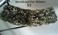 Green with Brown Tones Winter Headband for ears SYLVANLAKE