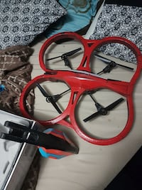 red and black quadcopter