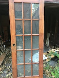 Glass panel door