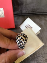 James Avery Sterling Silver Basket Weave Dome Ring Chantilly