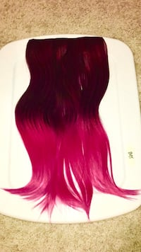 Bright pink clip on extensions  Las Vegas, 89141