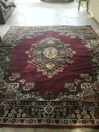 red, white, and green floral area rug Jackson, 39212