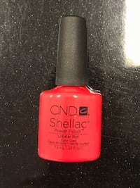 Red CND Shellac Power Polish bottle