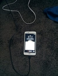 white LG android smartphone