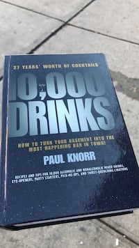 Brand new book 10,000 Drinks