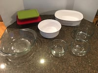 Lot of 8 Baking Dishes Pyrex, Corningware, Anchor With 2 Lids Manassas, 20112