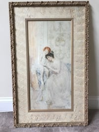 Gold framed painting of woman/child 362 mi