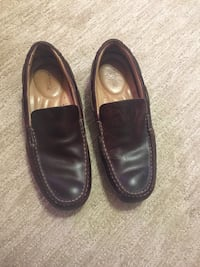 pair of black leather loafers Green, 44685