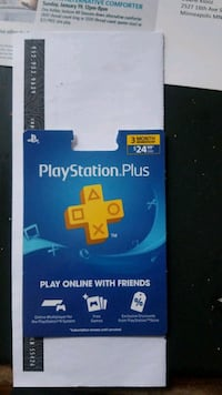 Playstation plus Card $25 value