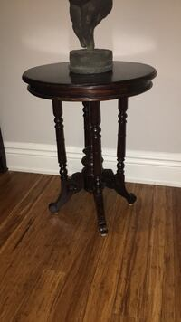 round brown wooden side table 540 km