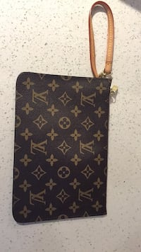 black and brown Louis Vuitton leather wristlet Vancouver, V6Z 1B7
